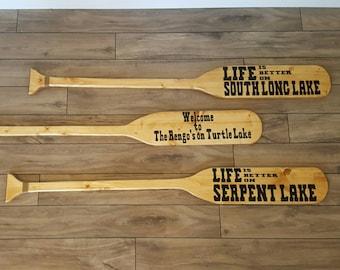 Personalized Nautical/Beach/Lake Decor Wood Oar/Paddle. Great for Wedding, Anniversary, Birthday, Housewarming