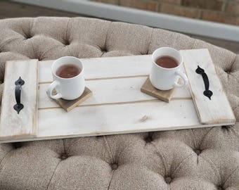 Reclaimed Wood ServingTrays, Christmas eve, Dining tray, Decorative serving tray.