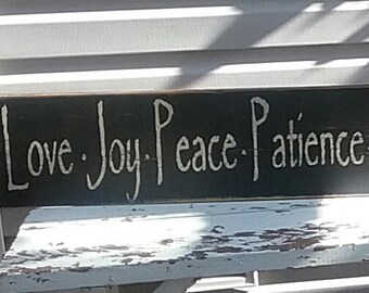 Fruit of the Spirit Distressed Wood Sign