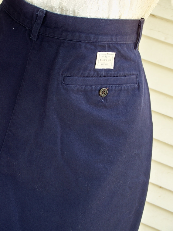 1980s Navy Ralph Lauren High-Waisted Shorts Vinta… - image 4