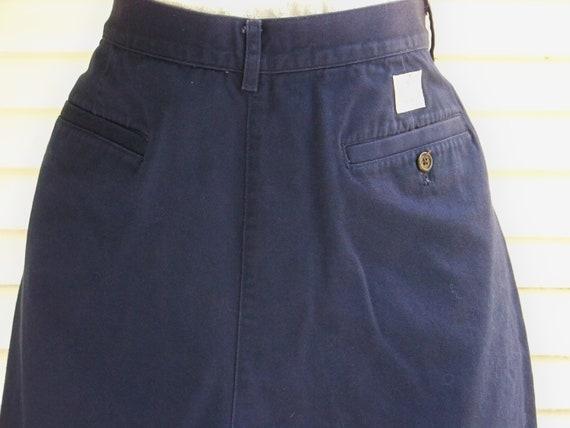 1980s Navy Ralph Lauren High-Waisted Shorts Vinta… - image 3
