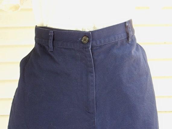 1980s Navy Ralph Lauren High-Waisted Shorts Vinta… - image 2