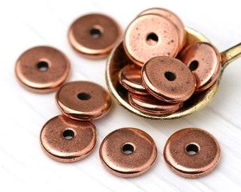 8mm Antique Copper TierraCast Heishi Disc #CK212