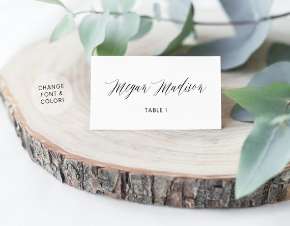 Place Cards Wedding Escort Cards Wedding Name Cards Place Etsy