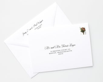Envelope Addressing, Wedding Envelope Addressing, Guest Envelope Addressing, Return Address on Envelope