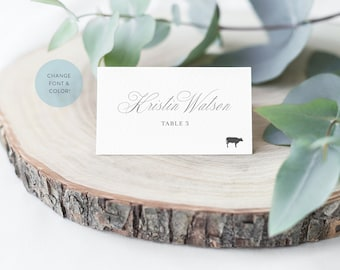 Printed Place Cards with Meal Options, Wedding Escort Cards, Wedding Name Cards, Place Setting Cards, Flat Place Cards, Tented Place Cards
