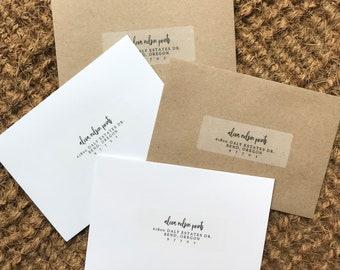 Add-On: Clear Return Address Labels for Response Envelopes