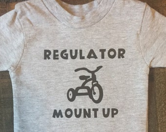 Toddler/Baby Regulator Mount Up tricycle t shirt 2T