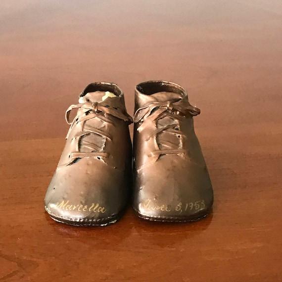 Vintage Bronze Baby Shoes Bronze Baby