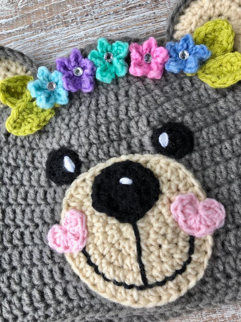 b4be673c807 Crochet Pattern Only Crochet Teddy Bear Hats for Girls and