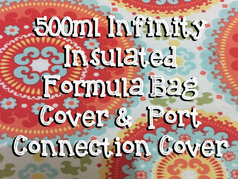 Orange medallion 500ml infinity Insulated Infinity Pump Bag image 0