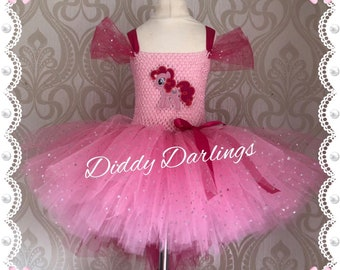 c5f6c9718ccd Sparkly Pinkie Pie Tutu Dress Inspired Handmade Tutu Dress Pink Sparkly  Tutu Dress All Colours All Sizes All My Little Pony Fully Customised