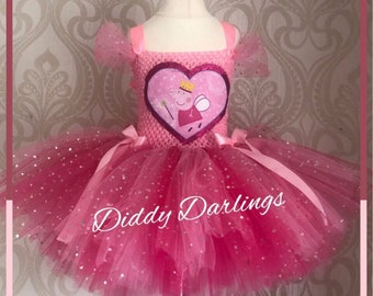 349220fa2d59 Sparkly Peppa Pig Tutu Dress. Inspired Handmade Tutu Dress. Pink Sparkly  Tutu Dress. All Colours All Sizes Fully Customised. Fairy Peppa.