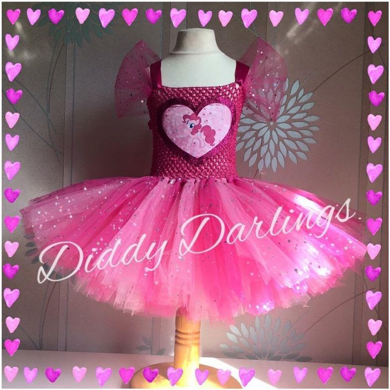 Vestido de brillante Pinkie Pie inspiración hecha a mano  7d7616b5fc8c