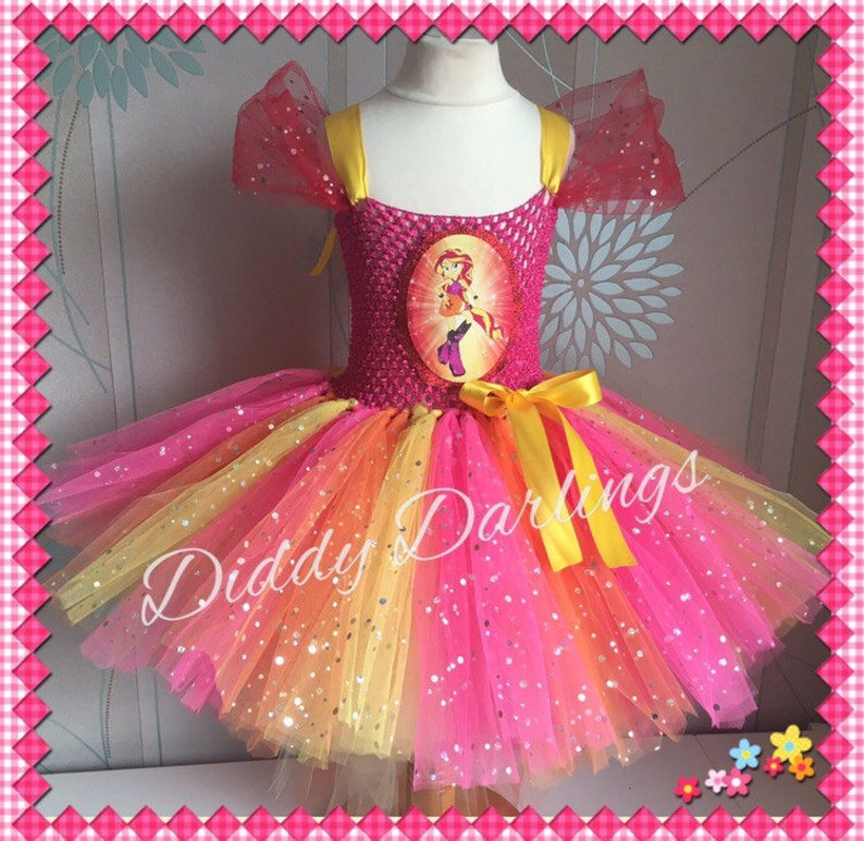 1d82f3b98fd1 Equestria Girls Tutu Dress. Sunset Shimmer. Sparkly Costume . | Etsy
