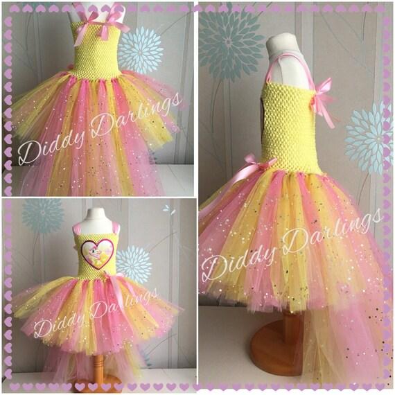 Prickelnde Fluttershy Tutu Kleid mit Schwanz. Handgemachte | Etsy