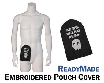 PouchWear ReadyMade Embroidered Ostomy Pouch Cover | Beats Being Dead