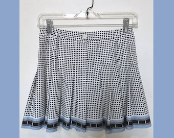 Vintage 90's Pleated MiniSkirt // Checkered Mini Skirt // Pleated Schoolgirl Skirt // Size 6 Small