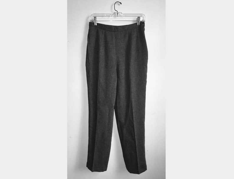 e7603f26038 Gray Pleated High Waisted Pants    90 s Business Casual