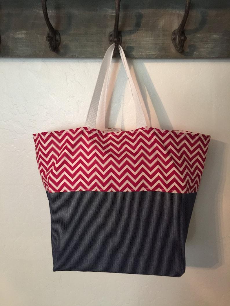Reversible Shopping Bag Reusable Shopping Bag Market bag Shopping Tote Beach Bag Machine Washable Grocery Bag Cotton Shopping Bag