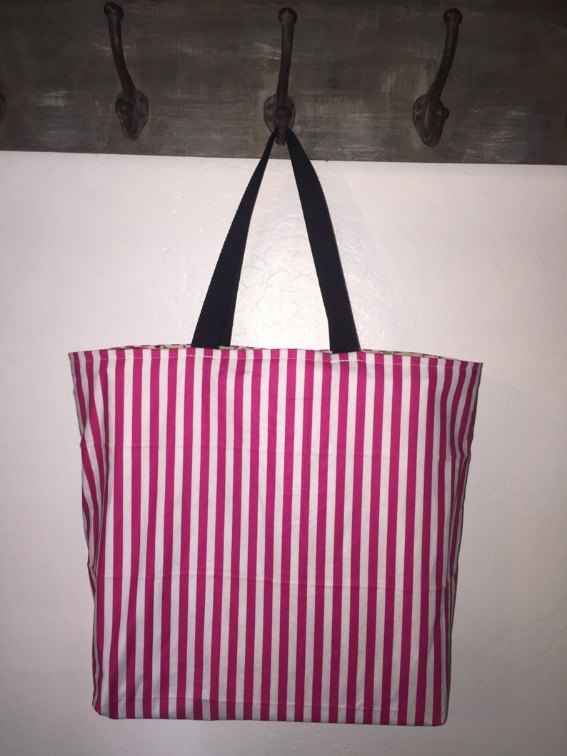 Reversible Shopping Bag Canvas Shopping Tote Beach Bag Reusable Shopping Bag Market Bag Tote Cotton Shopping Bag Washable Grocery Bag