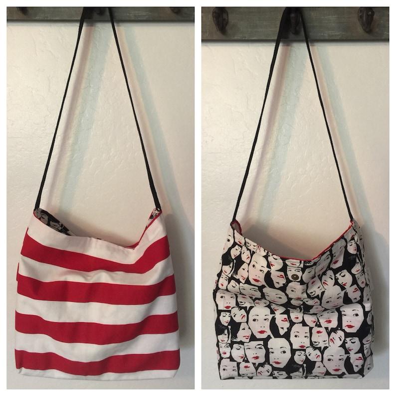Canvas Over the Shoulder Market Tote Reusable Shopping Bag Book Bag Beach Tote Shopping Bag Crossbody Market bag Washable Grocery Bag