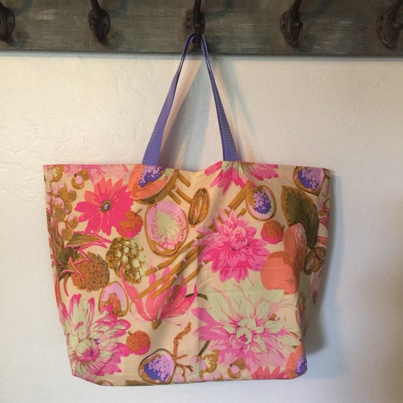 Market bag Reusable Shopping Bag Shopping Tote Machine Washable Grocery Bag Reversible Shopping Bag Beach Bag Cotton Shopping Bag