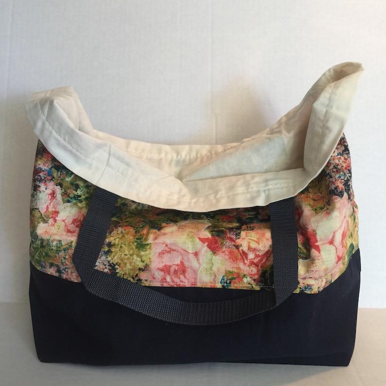 Reversible Shopping Bag Tote Canvas Shopping Tote Beach Bag Reusable Shopping Bag Market Bag Washable Grocery Bag Cotton Shopping Bag
