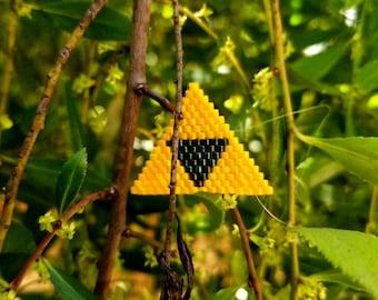 Beaded Triforce pin