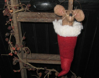 christmas mouse mouse in santa hat peg hanger tree ornament christmas decor holiday decoration santa hat with mouse seasonal decor - Christmas Mouse Myrtle Beach