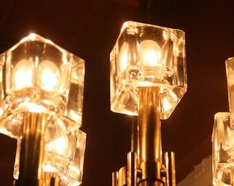 mid century modern ice cube chandelier