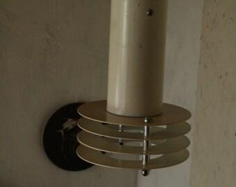 vintage Danish metal pendant light .
