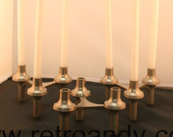 Vintage modular candle holders and candles