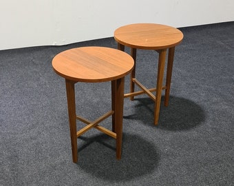 Pair of teak MCM folding side tables