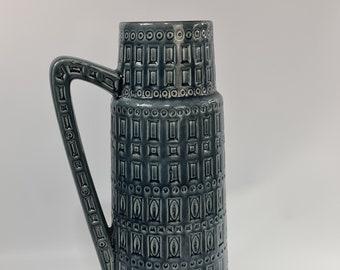 Vintage West German pottery floor  vase by Scheurich .