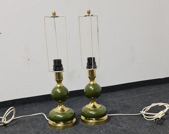 A pair of vintage metal table lights