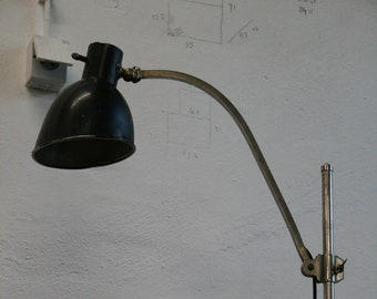 Vintage Bauhaus desk architect lamp by Hala Germany