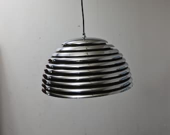 Vintage  Saturno Chrome pendant lamp by Kazua Motozawa for Staff