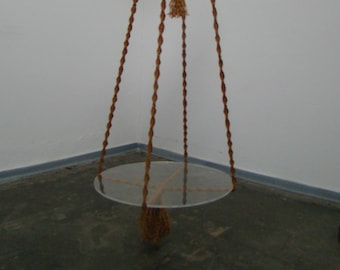 Vintage XXL Macramé hanging plant table