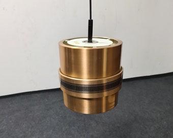 Vintage Doria copper colored pendant light