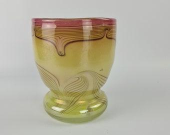 Vintage German art glass vase by Erwin Eisch
