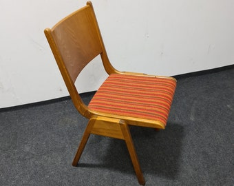 Vintage 60s wooden stacking chairs