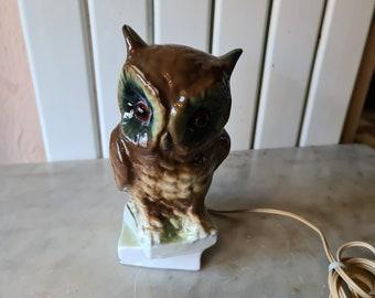 Vintage ceramic  Owl night light