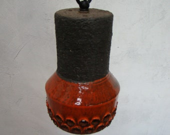Vintage Danish ceramic pendant light