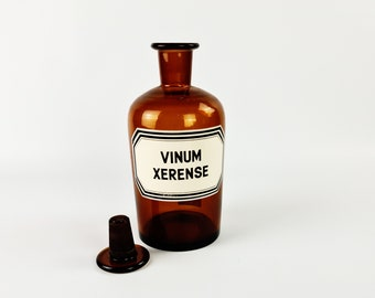 Vintage brown glassed apothecary bottle