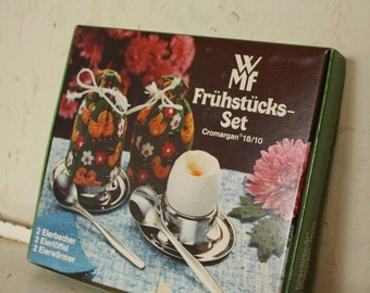 Vintage Breakfast set by WMF cromargan stainless steel