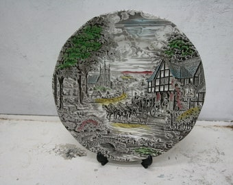 Wedgwood Dickens coaching days 24 cm plate
