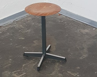 Vintage school metal stool