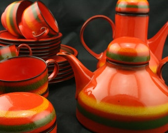 Vintage Furstenburg coffee and tea set .