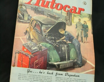 vintage the Autocar car magazine  jan 2 1948